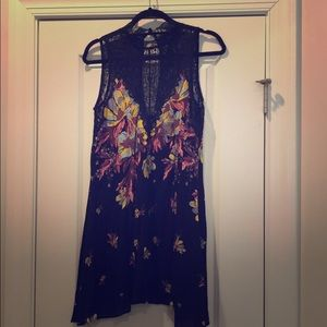 Free people floral lace tunic